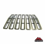 Chrome Plastic Grille Insert Set, 1987-1995 Jeep Wrangler YJ by RT Off-Road