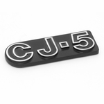 CJ-5 Emblem, Stick On, Jeep CJ-5 1972-1983, Mopar Licensed Product