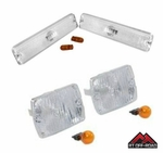 Clear Marker & Turn Signal Lens Kit, 1987-1995 Jeep Wrangler YJ  by RT Off-Road