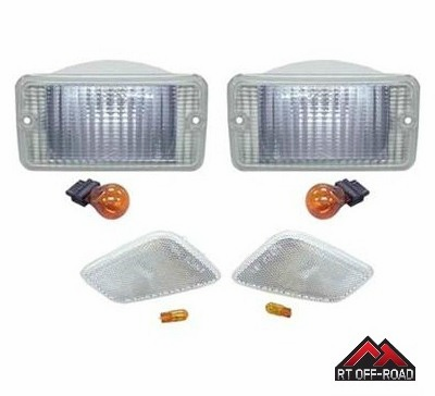 Clear Marker & Turn Signal Lens Kit, 1997-2006 Jeep Wrangler TJ  by RT Off-Road