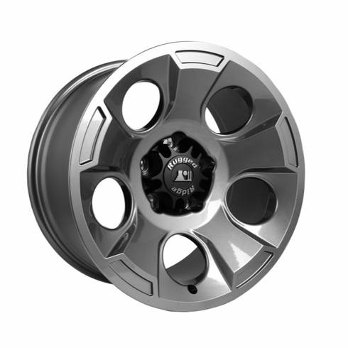 Drakon Wheel, 17X9 Gun Metal, w/ center cap, 07-14 Jeep Wrangler by Rugged Ridge