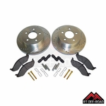 Drilled & Slotted Front Performance Brake Kit, 1999-2006 Jeep Wrangler TJ, 1999-2001 Cherokee XJ by RT Off-Road