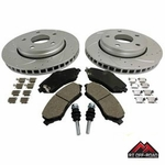"Drilled & Slotted Front Performance Brake Kit, 2007-2012 Jeep Wrangler JK w/ 11.89"" diameter rotor by RT Off-Road"