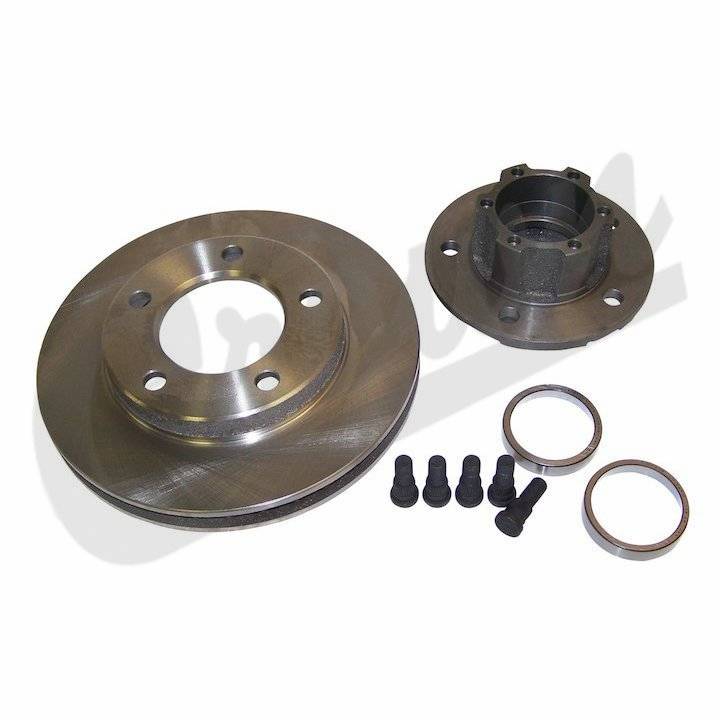 "Front Brake Hub & Rotor, 1976-77 CJ-5, CJ-7 with 1-1/8"" thick rotor"