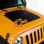 Hood Decal, Hibiscus, for 2007-17 Jeep Wrangler JK