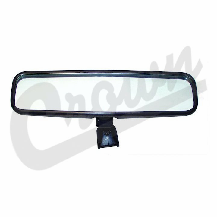 "Inside rear view mirror, 9.75"" wide, fits 1955-86 Jeep CJ-5, CJ-6, CJ-7 & CJ-8 Scrambler"