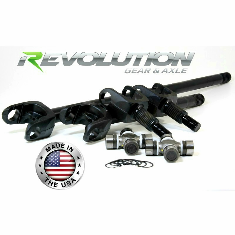 Jeep 87-95 YJ, MJ & XJ, US Made Front Axle Kit w/Disconnect Eliminator