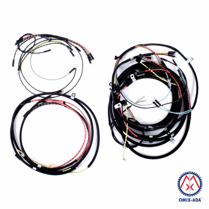 OMIX [ 643261 ] Jeep Wiring Harness, Horn on Fender without Turn Signals, fits 1946-49 Jeep CJ-2A
