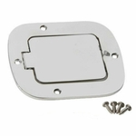 Kentrol Billet Style Gas Hatch Polished Stainless Steel, Jeep CJ & Wrangler YJ 1977-95