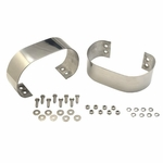 Kentrol Bumperette Set Polished Stainless Steel, Jeep CJ & Wrangler YJ 1976-95