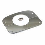 Kentrol Column Cover Polished Stainless Steel, Jeep CJ 1976-86