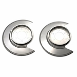 Kentrol Disc Brake Dust Cover Set Polished Stainless Steel, Jeep CJ 1976-77