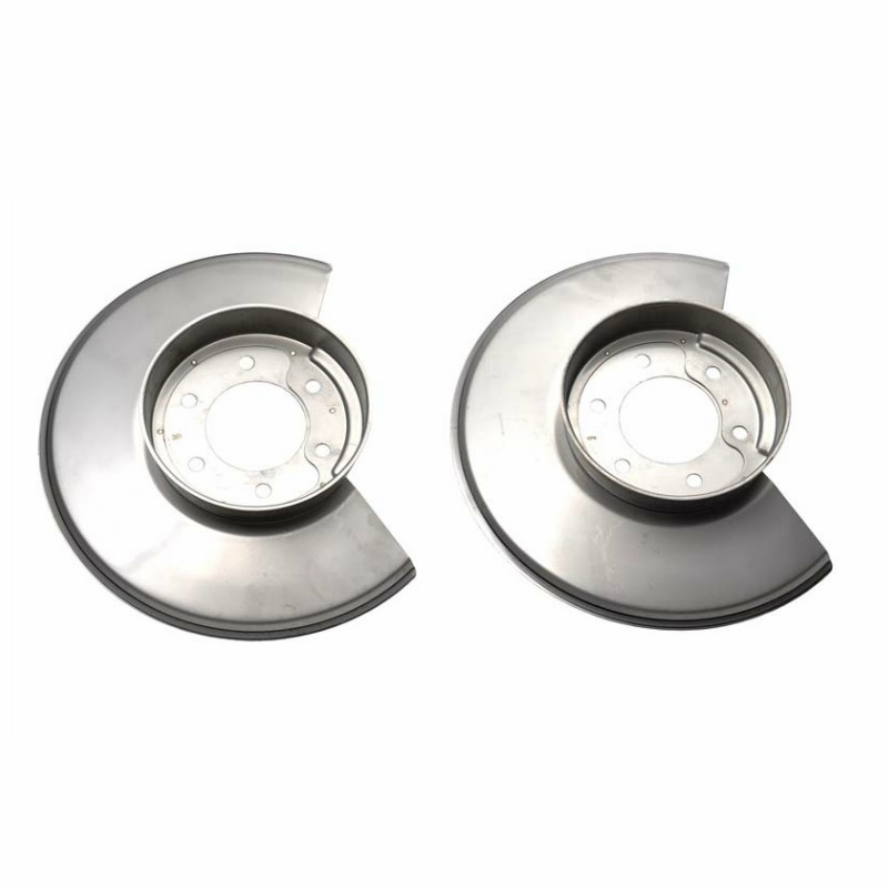 Kentrol  [ 30502 ] Disc Brake Dust Cover Set Polished Stainless Steel, Jeep CJ 1978-86