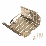 Kentrol Gas Tank Skid Plate w/strap  Polished Stainless Steel, Jeep CJ & Wrangler YJ 1976-90