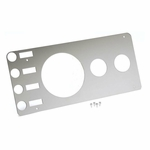 Kentrol Gauge Cover (without radio opening) Polished Stainless Steel, Jeep CJ 1976-86