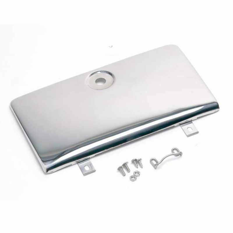 Kentrol  [ 30526 ] Glove Box Door use with OE key lock Polished Stainless Steel, Jeep CJ 1972-86