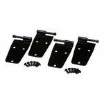 Kentrol Hardtop Door Hinge Set, 4 pieces, Black Powder Coated Stainless, Jeep CJ & Wrangler YJ 1976-93