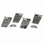 Kentrol Hardtop Door Hinge Set w/o mirror holes, 4 pieces, Polished Stainless Steel, Jeep CJ & Wrangler YJ 1976-93