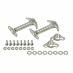 Kentrol Hood Catch Set Polished Stainless Steel, Jeep CJ & Wrangler YJ 1955-95