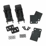 Kentrol Hood Catch Set TJ Style Black Powder Coated Stainless, Jeep CJ & Wrangler YJ 1945-95