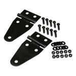 Kentrol Hood Hinge Set Black Powder Coated Stainless, Jeep CJ & Wrangler YJ 1955-95