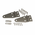 Kentrol Hood Hinge Set Polished Stainless Steel, Jeep CJ & Wrangler YJ 1955-95