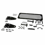 Kentrol Hood Kit Black Powder Coated Stainless, Jeep CJ & Wrangler YJ 1978-95