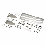 Kentrol Hood Kit  Polished Stainless Steel, Jeep CJ & Wrangler YJ 1978-95
