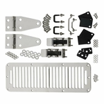Kentrol Hood Kit (with TJ Style Hood Catch) Polished Stainless Steel, Jeep CJ & Wrangler YJ 1978-95