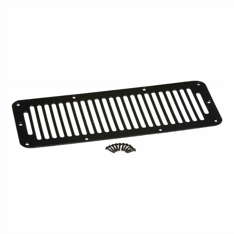 Kentrol  [ 50406 ] Hood Vent Black Powder Coated Stainless, Jeep CJ 1978-86
