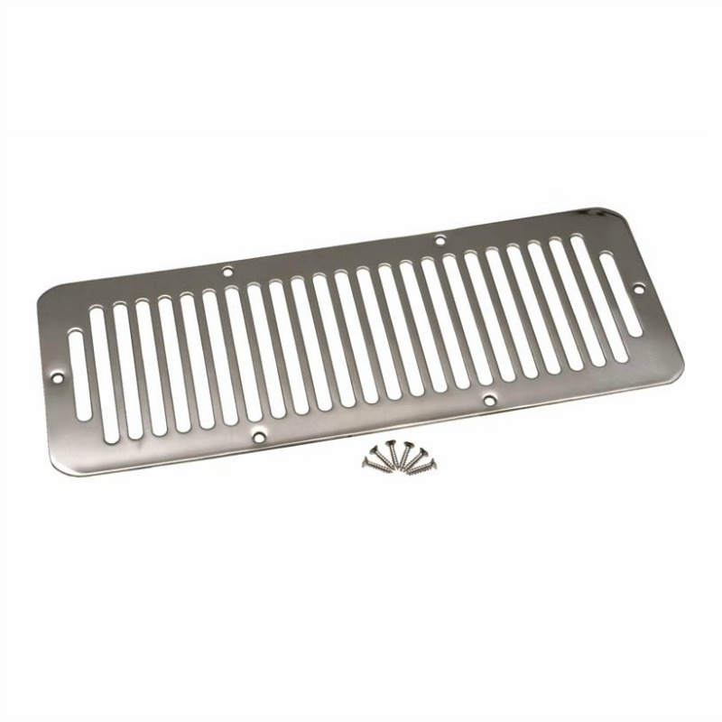 Kentrol  [ 30406 ] Hood Vent Polished Stainless Steel, Jeep CJ 1978-86