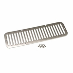Kentrol Hood Vent Polished Stainless Steel, Jeep CJ5 1955-77
