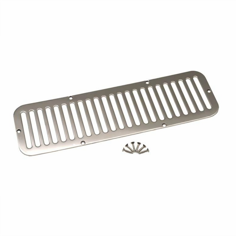 Kentrol  [ 30405 ] Hood Vent Polished Stainless Steel, Jeep CJ5 1955-77