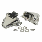 Kentrol Interior Door Latch Bracket Set Polished Stainless Steel, Jeep CJ & Wrangler YJ 1981-95