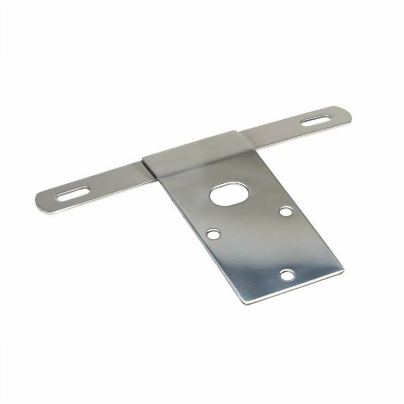 Kentrol  [ 30472 ] License Plate Bracket Polished Stainless Steel, Jeep CJ 1976-86