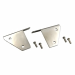 Kentrol Light Bracket Set Polished Stainless Steel, Jeep CJ & Wrangler YJ 1976-95