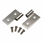 Kentrol Lower Door Hinge Set Polished Stainless Steel, Jeep CJ, Wrangler YJ, & TJ 1976-2006