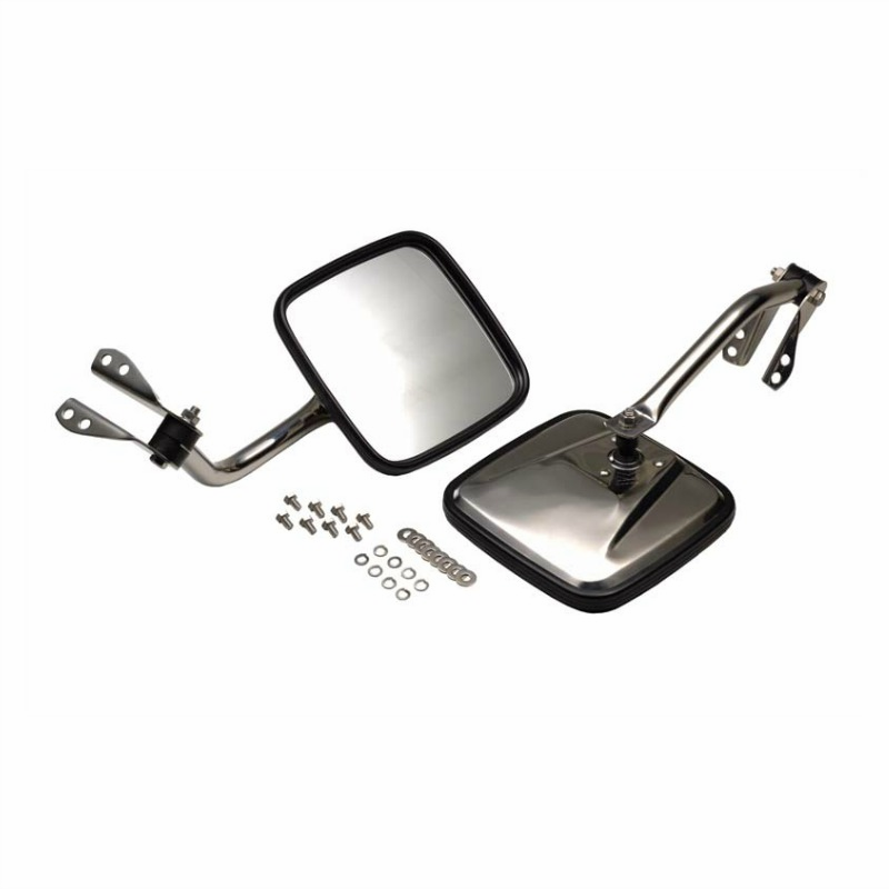 Kentrol Mirror Kit Polished Stainless Steel, Jeep CJ 1955-86