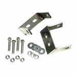 Kentrol Rear Bumper Brackets Set Polished Stainless Steel, Jeep CJ 1945-86