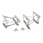 Kentrol Seat Pedestal Set Polished Stainless Steel, Jeep CJ & Wrangler YJ 1976-90