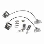 Kentrol Tailgate Pivot Latch Assembly (fiberglass body) Polished Stainless Steel, Jeep CJ 1976-86