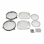 Kentrol Wire Mesh Guard Set, 6 pieces, Black Powder Coated Stainless, Jeep CJ 1976-86