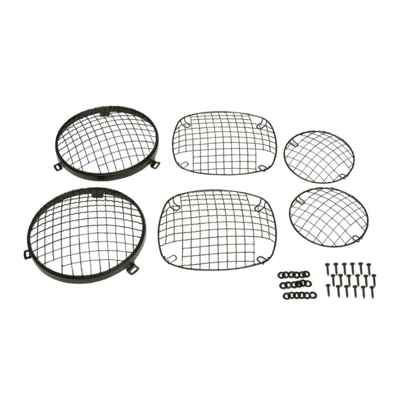 kentrol 50465 wire mesh guard set  6 pieces  black powder