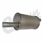 Muffler assembly, 4 cyl. engine, 1945-71 Willys Jeep CJ-2A, CJ-3A, CJ-3B, CJ-5, CJ-6