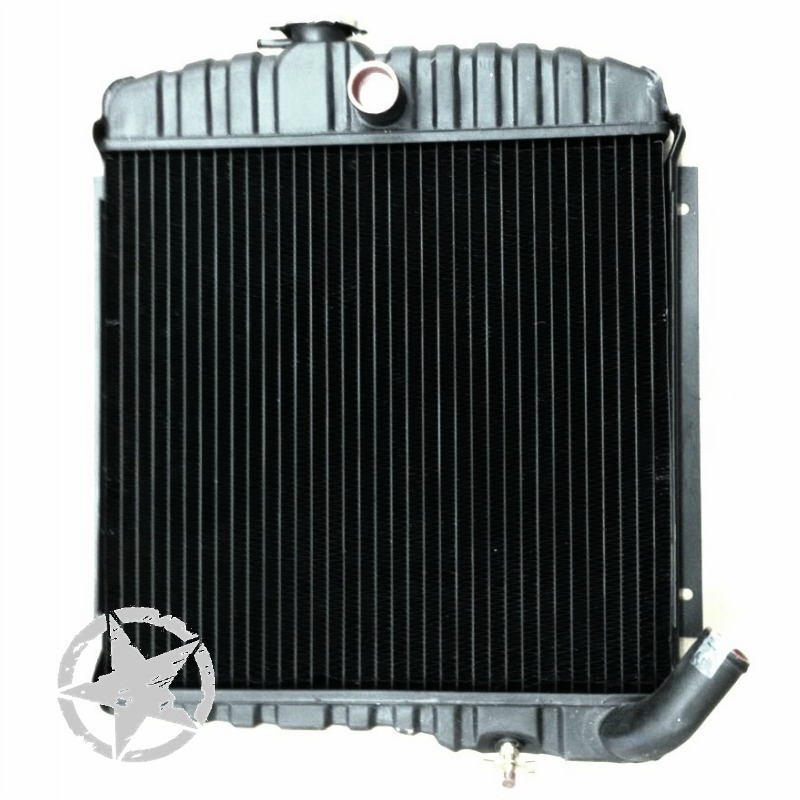 New 17 inch, 3 Row Radiator, fits 1965-68 Jeep CJ5, CJ6 with 225 V6 Engine