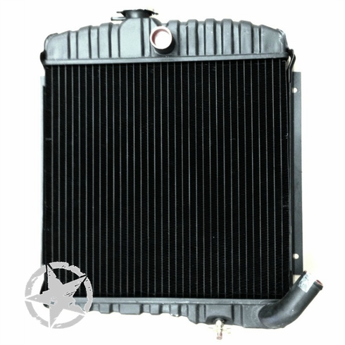 MTS [ JEEPRAD3 ] New 17 inch, 3 Row Radiator, fits 1965-68 Jeep CJ5, CJ6 with 225 V6 Engine