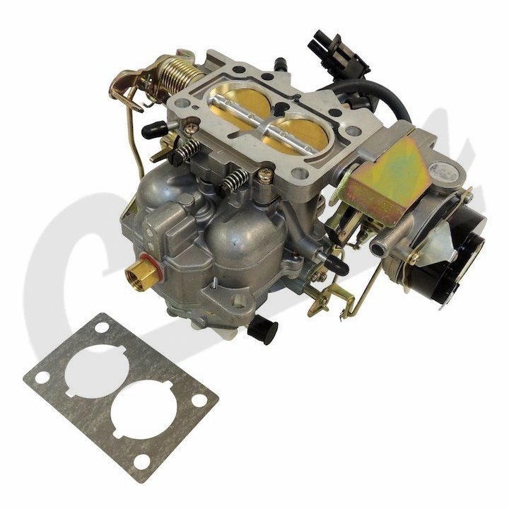 New Carter BBD Type Carburetor with Electric Stepper Motor, 1981-86 Jeep CJ with 258 Engine