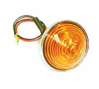 OMIX [ 1240501 ] Park lamp assembly, amber lens, left or right, fits 1955-71 Jeep CJ-5, CJ-6