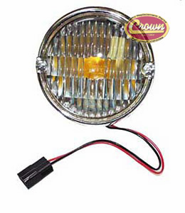 Park lamp assembly, clear lens, left or right, fits 1976-86 Jeep CJ-5, CJ-7 & CJ-8