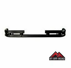 Rear Double Tube Bumper, Black, 2007-2015 Jeep Wrangler JK by RT Off-Road